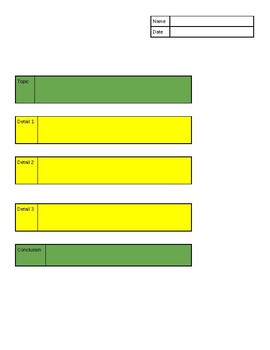 Editable Step Up to Writing Graphic Organizers