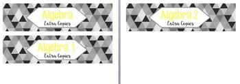 Editable Sterilite 3 Drawer Diamond Labels