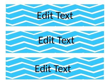 Editable Sterilite 3 Drawer Labels Zigzag