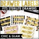 Editable Sterilite Drawer Labels {Chic, Glam, Gold, Glitter, 8.5x11}