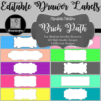 Editable Sterilite Drawer Labels - Basics: Brick Path