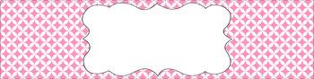 Editable Sterilite Drawer Labels - Basics: Circle Diamonds and White