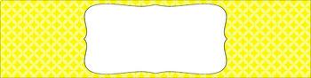 Editable Sterilite Drawer Labels - Essentials: Circle Diamonds
