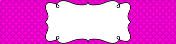 Editable Sterilite Drawer Labels - Essentials: Circle Diamonds (Inverted)