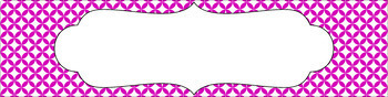 Editable Sterilite Drawer Labels - Essentials & White: Circle Diamonds(Inverted)