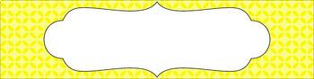 Editable Sterilite Drawer Labels - Essentials: Circle Flowers