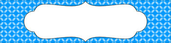 Editable Sterilite Drawer Labels - Essentials: Circle Flowers (Inverted)