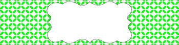 Editable Sterilite Drawer Labels - Essentials & White: Circle Flowers