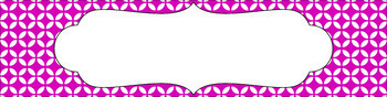 Editable Sterilite Drawer Labels - Essentials & White: Circle Flowers (Inverted)