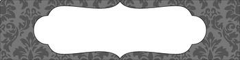 Editable Sterilite Drawer Labels - Basics: Damask