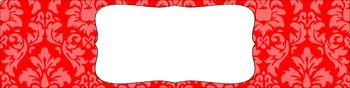 Editable Sterilite Drawer Labels - Essentials: Damask (Inverted)
