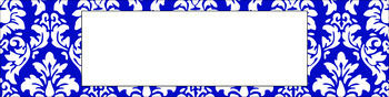 Editable Sterilite Drawer Labels - Essentials & White: Damask (Inverted)
