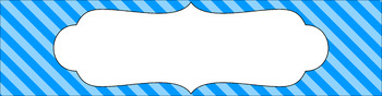 Editable Sterilite Drawer Labels - Essentials: Diagonal Stripes