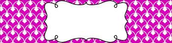 Editable Sterilite Drawer Labels - Basics: Diamond Scallops and White