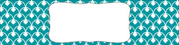 Editable Sterilite Drawer Labels - Essentials & White: Scalloped Diamonds