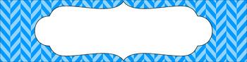 Editable Sterilite Drawer Labels - Basics: Herringbone