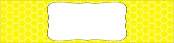 Editable Sterilite Drawer Labels - Basics: Honeycomb