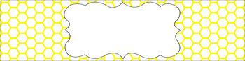 Editable Sterilite Drawer Labels - Essentials & White: Honeycomb (Inverted)