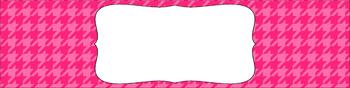 Editable Sterilite Drawer Labels - Basics: Houndstooth