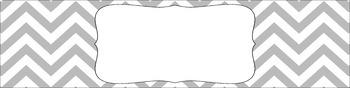 Editable Sterilite Drawer Labels - Basics: Jumbo Chevron and White