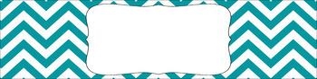 Editable Sterilite Drawer Labels - Essentials & White: Jumbo Chevron