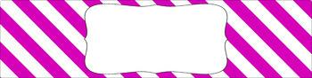 Editable Sterilite Drawer Labels - Basics: Jumbo Diagonal Stripes and White