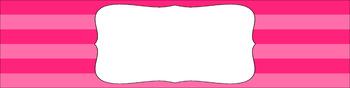 Editable Sterilite Drawer Labels - Essentials: Jumbo Stripes