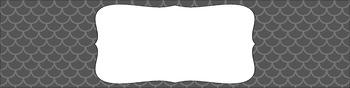 Editable Sterilite Drawer Labels - Basics: Mermaid (Scalloped)