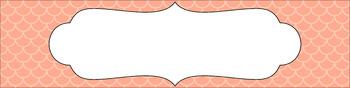Editable Sterilite Drawer Labels - Essentials: Scalloped