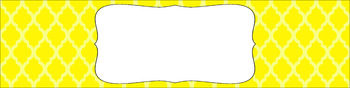 Editable Sterilite Drawer Labels - Basics: Moroccan