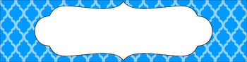 Editable Sterilite Drawer Labels - Essentials: Moroccan