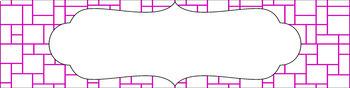 Editable Sterilite Drawer Labels - Essentials & White: Mosaic (Inverted)