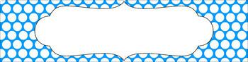 Editable Sterilite Drawer Labels - Essentials & White: Polka Dots (inverted)