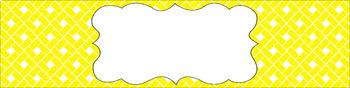 Editable Sterilite Drawer Labels - Basics: Rectangles and White