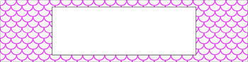 Editable Sterilite Drawer Labels - Essentials & White: Scallops (Inverted)