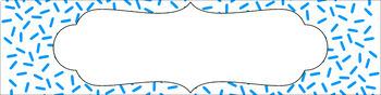Editable Sterilite Drawer Labels - Essentials & White: Sprinkles