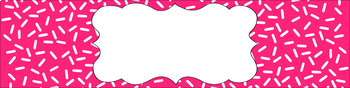 Editable Sterilite Drawer Labels - Essentials & White: Sprinkles (Inverted)