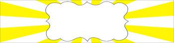 Editable Sterilite Drawer Labels - Basics: Sunburst and White
