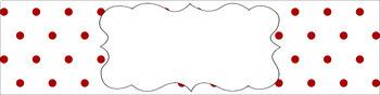 Editable Sterilite Drawer Labels - Essentials & White: Tiny Dots