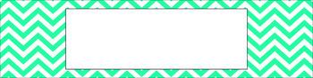 Editable Sterilite Drawer Labels - Essentials & White: Chevron
