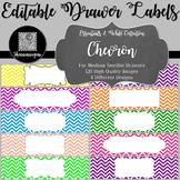 Editable Sterilite Drawer Labels - Basics: Chevron and White