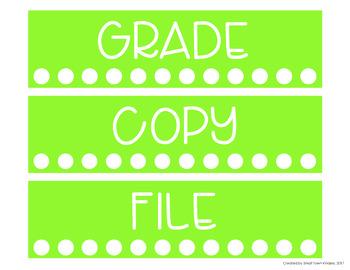 Editable Sterilite Drawer Labels - Color