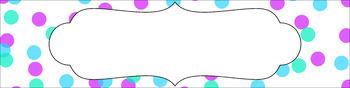 Editable Sterilite Drawer Labels - Confetti: White Background (Large)