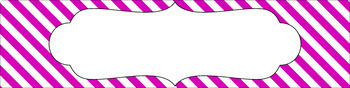 Editable Sterilite Drawer Labels - Basics: Diagonal Stripes and White