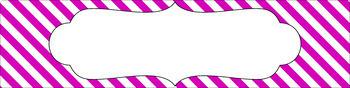 Editable Sterilite Drawer Labels - Essentials & White: Diagonal Stripes