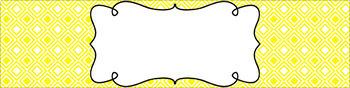 Editable Sterilite Drawer Labels - Basics: Diamonds and White