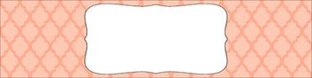 Editable Sterilite Drawer Labels - Essentials: Moroccan (Inverted)