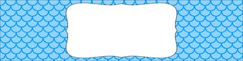 Editable Sterilite Drawer Labels - Essentials: Scalloped (Inverted)