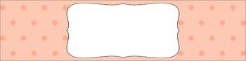 Editable Sterilite Drawer Labels - Essentials: Tiny Dots