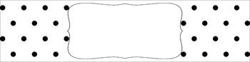 Editable Sterilite Drawer Labels - Essentials & White: Black & White